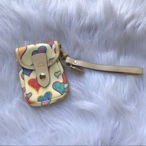 Dooney & Burke Heart Card Cellphone Wristlet